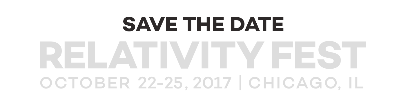 Relativity Fest 2016 - October 9-11 | Chicago, IL