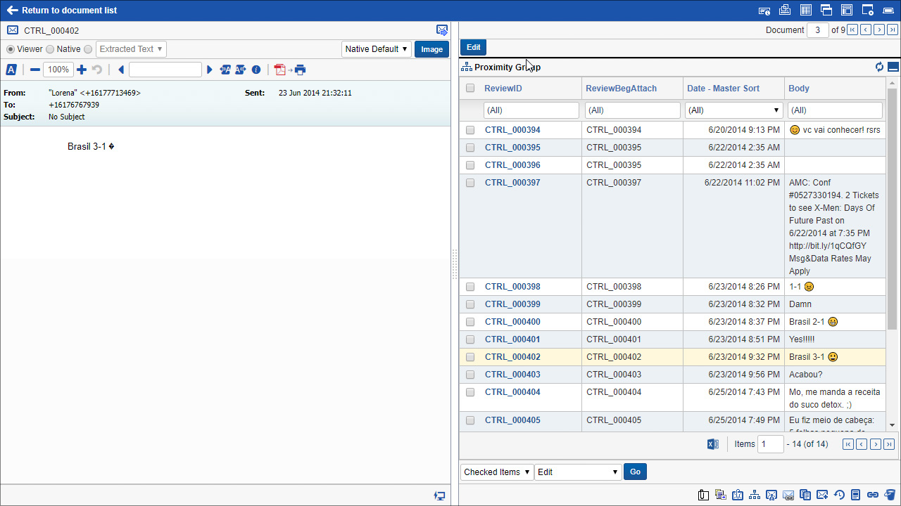 HaystackID: Cellebrite Integrator Screenshot