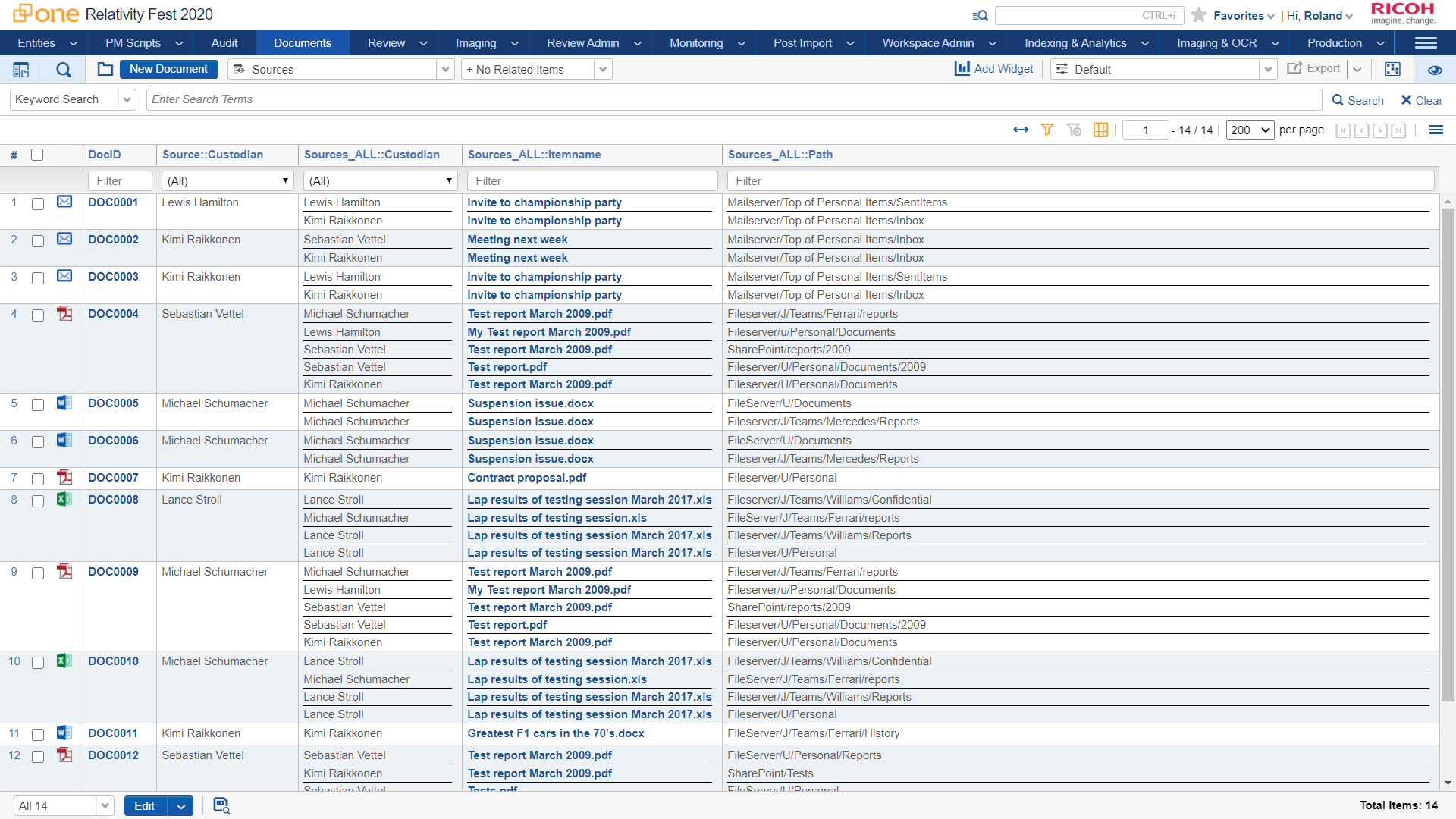 Source Information Tracking by Ricoh Canada Screenshot