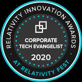 Corporate Tech Evangelist Award